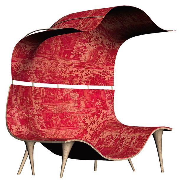 Эксцентричное красное кресло Wild Etiquette Lounge