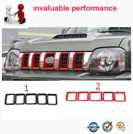 Car styling Car Front Grille Trim Auto Grille Decoration Cover Trims  For Suzuki Jimny 2015 car accessories