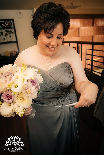 Grey Wedding Gown. Photo from Merrily + Anil collection by Sherry Sutton Photography (www.sherrysutton.com). Stonehouse at Stirling Ridge Wedding.