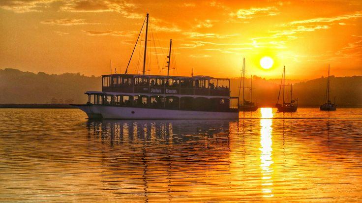 Sunset cruise #knysna #howzitsouthafrica