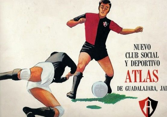 Club Atlas of Mexico poster from the 1960s.