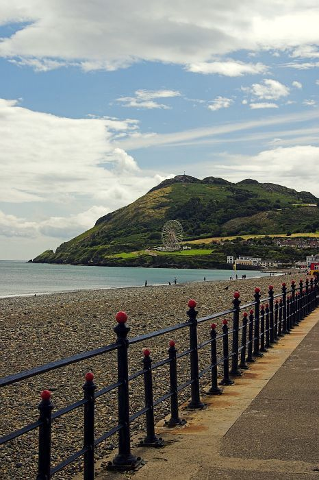 Bray to Greystones walk, Co. Wicklow. And there's the first Ferris wheel I rode!!