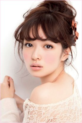 Erika Mori 森絵梨佳 # loving the overly flushed cheeks trend !! ^.^