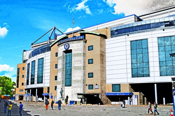 West Stand, Stamford Bridge; home of Chelsea FC
