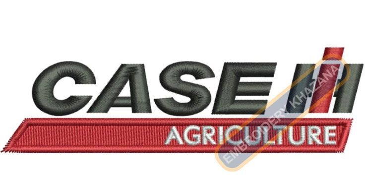 Case tractor logo Embroidery designs