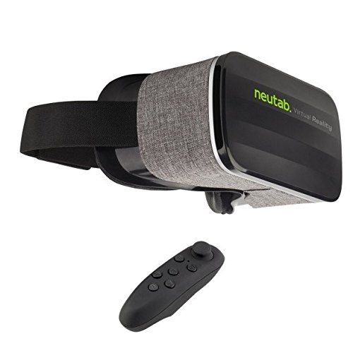 NeuTab VR 2nd Gen Virtual Reality Headset 3D Glasses with Remote Controller 360 Degree Immersive Movies and Games for IOS, Android Phones, iPhone 6 7 Plus Samsung Huawei and Other 3.5-6.3 inch Screens  https://topcellulardeals.com/product/neutab-vr-2nd-gen-virtual-reality-headset-3d-glasses-with-remote-controller-360-degree-immersive-movies-and-games-for-ios-android-phones-iphone-6-7-plus-samsung-huawei-and-other-3-5-6-3-inch-screens/  Light-weight design and glasses-friendly