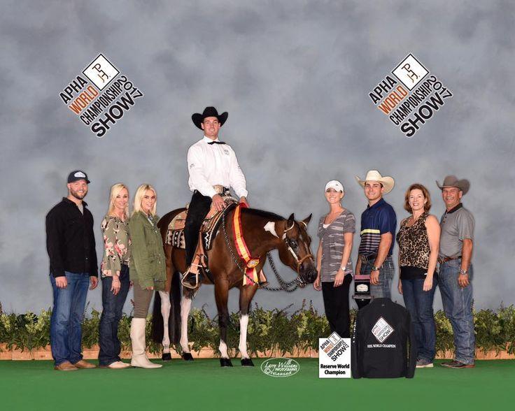 Scott Weis & Erin Bradshaw's Elicious is Reserve World champion Green Western Pleasure Horse APHA