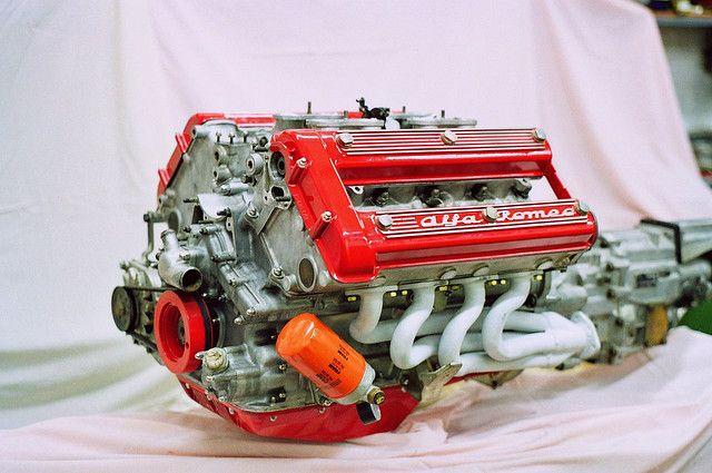 girlsandmotorsportfan:  Alfa Romeo Montreal V8 engine by Camera man Hannes on Flickr.