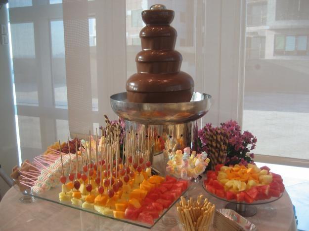 Chocolate  Wedding  Dessert Bar  Chocolate fountains