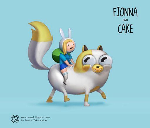Mararía and manga: Adventure Time: Fiona and Cake