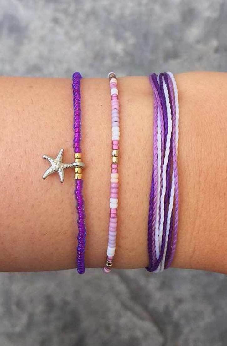 Bracelet De Charme - Fleurs De Lavande Par Vida Vida FLitMpnRNB