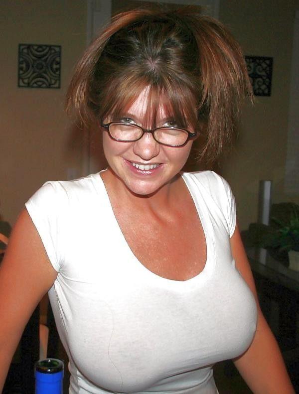 Big Tits Glasses Blowjob