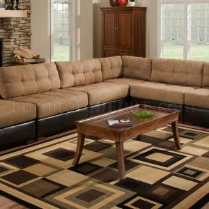 Leather And Fabric Sectional Couches