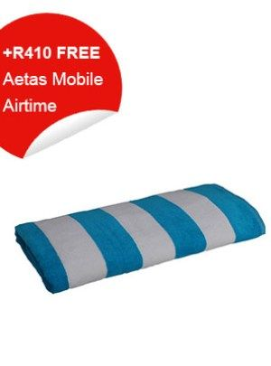 Beach Towel (Blue & White Stripes)