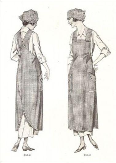 Patroon vintage schort