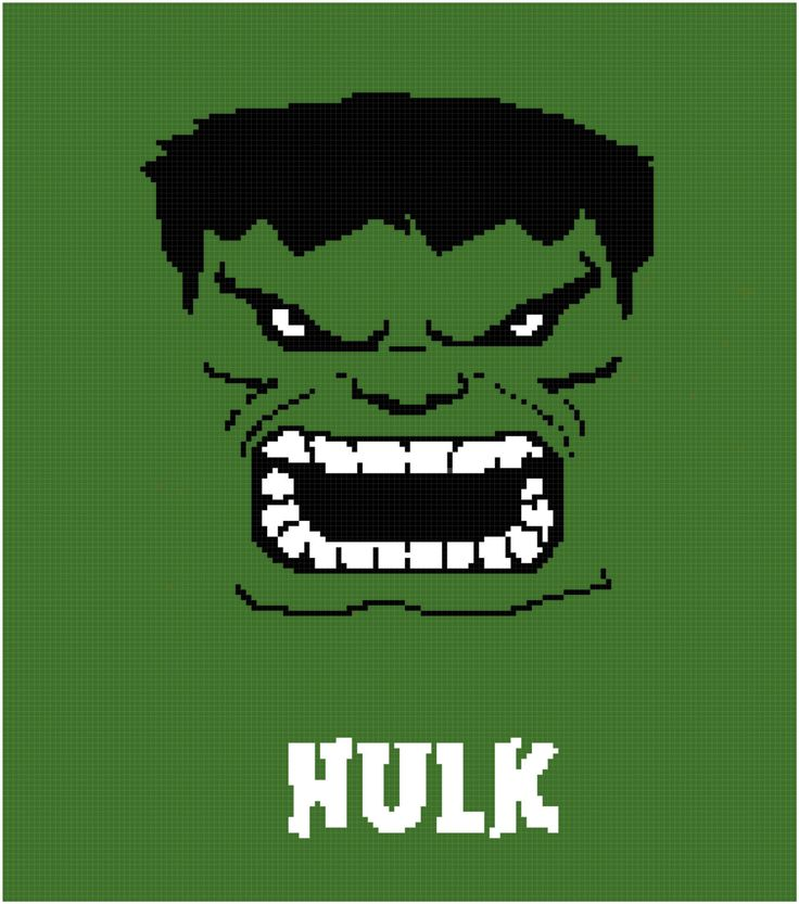 The Hulk Crochet Afghan Graph Pattern by GraphgansBySabre on Etsy  https://www.etsy.com/shop/GraphgansBySabre also like and follow me on facebook https://www.facebook.com/TheCraftersTrunk?ref=bookmarks