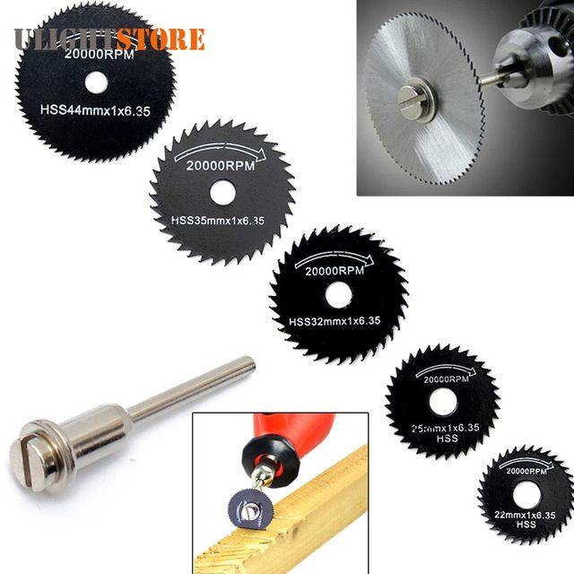 5pcs HSS Circular Saw Blade High Speed Steel Mini Drill Rotary Tool Cutting Disc For Metal Wood Cutter Disk Power Tools Set Kit