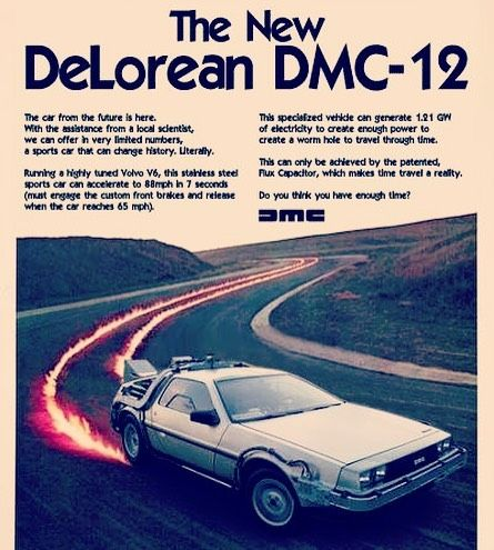 "38 Likes, 7 Comments - DeLorean / BTTF (@delorean01955) on Instagram: ""DMC Time Machine Advertising #backtothefuture #deloreantimemachine #bttf #delorean #delorean01955…"""