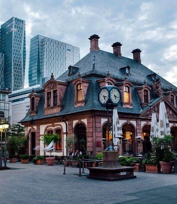 "Die  ""Hauptwache""  in Frankfurt Main, Germany----Main Guard Building - Frankfurt City, Hessen, Germany"