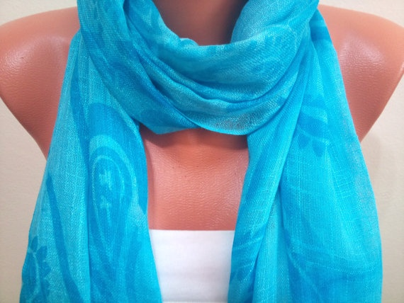 Turquoise scarf TrendyScarf by TrendyScarf on Etsy, $9.99