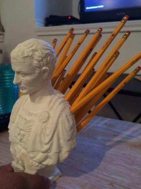 Julius Caesar pencil holder. Need.