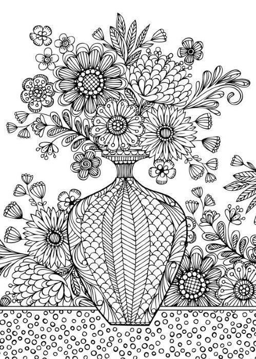 123 besten Malvorlagen Blumen Bilder auf Pinterest | Malvorlagen ...