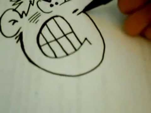 How to Draw a Cartoon Face - Funny Face Drawing Lesson - YouTube