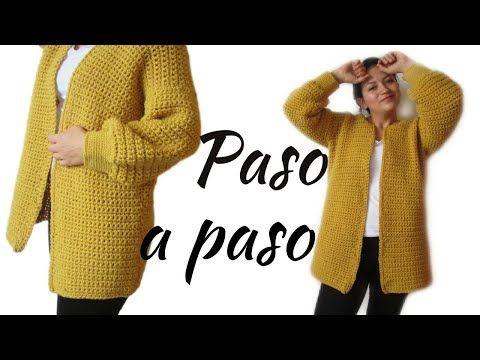 Cómo Tejer Saco Mostaza Cardigan Con Lana Gruesa A Crochet Paso A Paso Senc Patrón Para Chaqueta De Ganchillo Como Tejer Un Sueter Chaqueta De Ganchillo