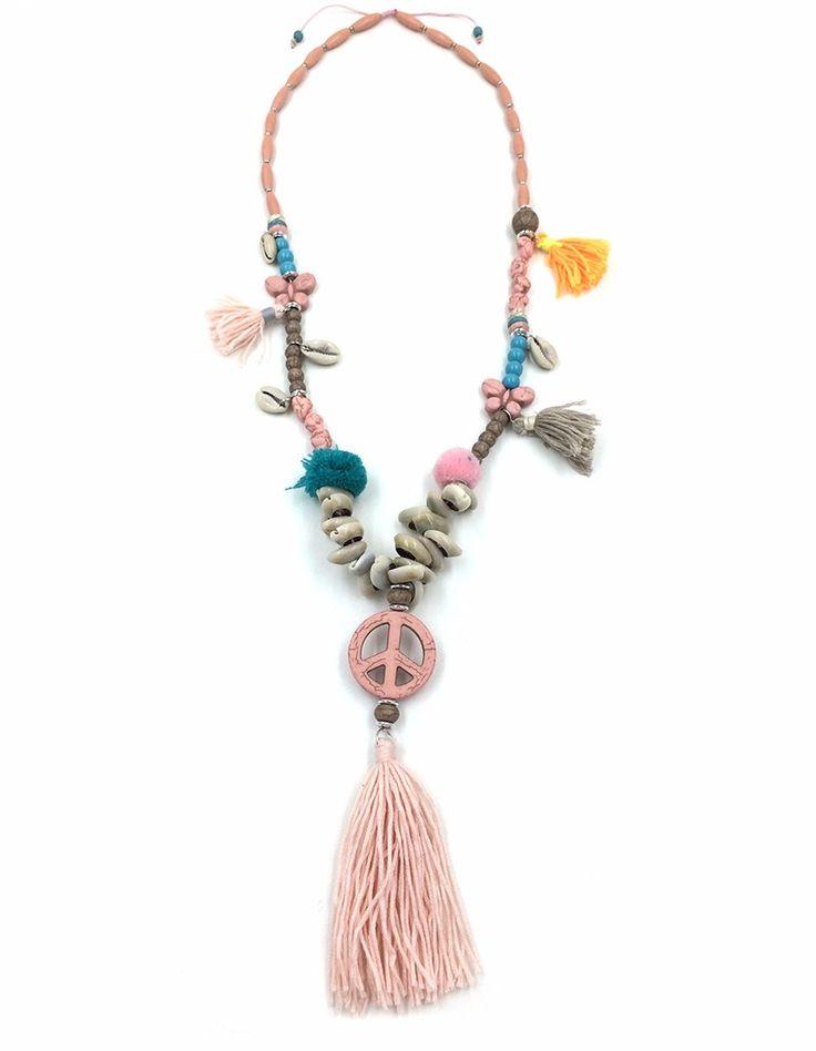 Collar hippie con borlas                                                                                                                                                                                 Más