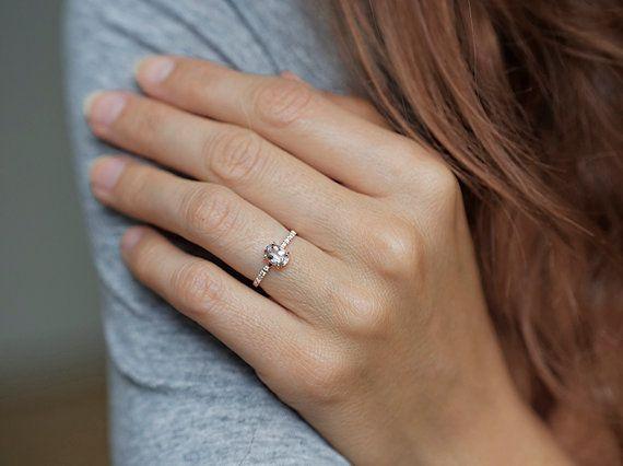 Morganit Ring Morganit Diamantring Morganit Verlobungsring