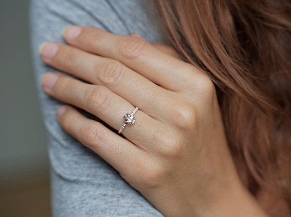 Morganite Ring Diamond Morganite Ring Morganite by MinimalVS