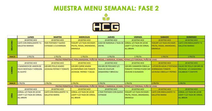 FASE 2 DIETA GOTAS HCG