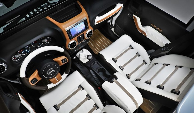 White Jeep interior!  So swag!!!!!