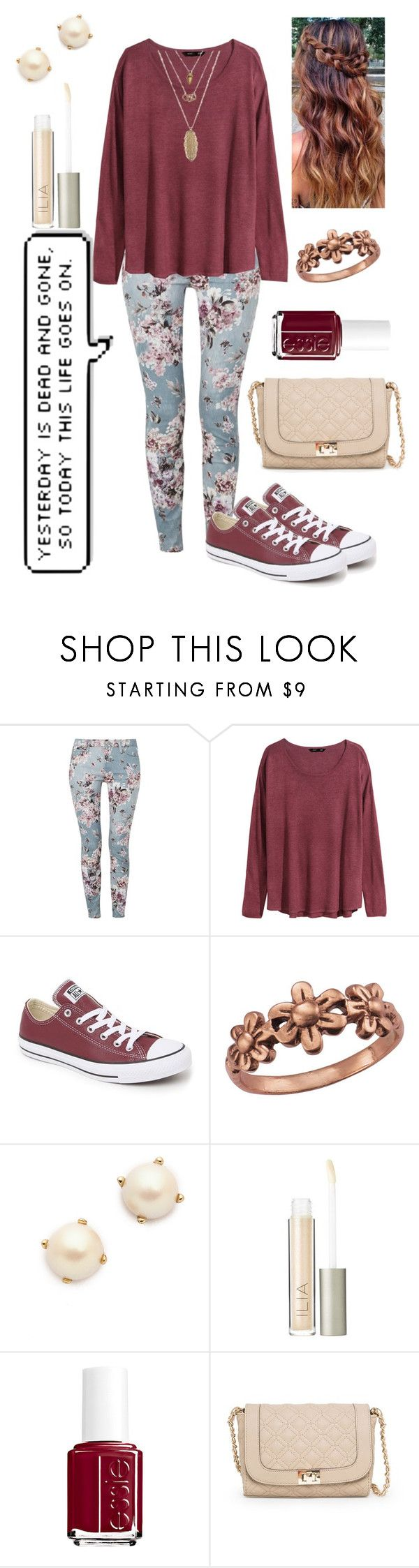 """""""Yesterday is Gone"""" by soccer-13 ❤ liked on Polyvore featuring 7 For All Mankind, H&M, Converse, Marie Chavez, Kate Spade, Ilia, Essie and MANGO"""