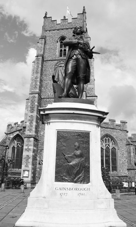 Thomas Gainsborough Statue, Sudbury, Suffolk, 28th June 2014
