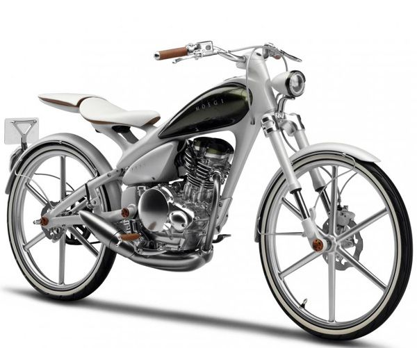 Like the popular Derringer Cycles we've covered frequently, Yamaha's Y125 MOEGI pedal motorcycle concept is both motorcycle and bicycle