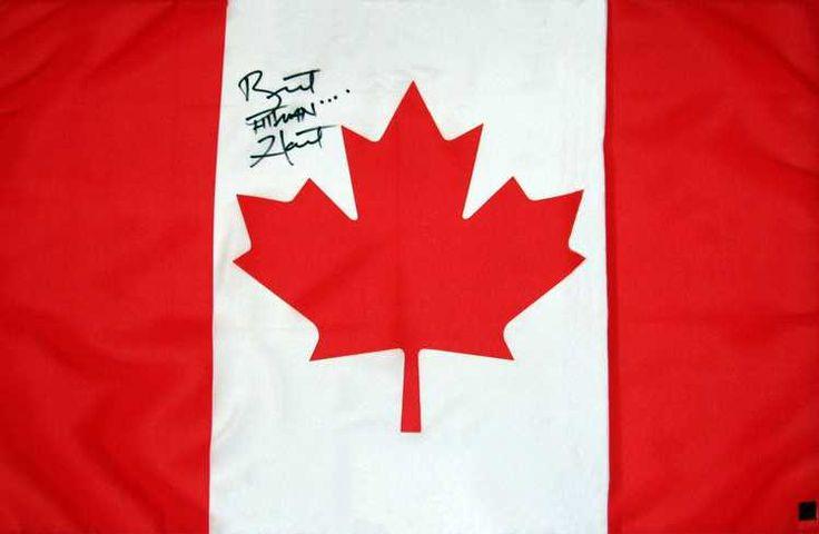 Bret Hart Signed Canadian Flag