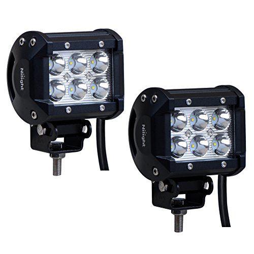 Nilight 2 X 18W 1260 lm Cree LED Spot Driving Fog Light LED Work Light Bar Mounting Bracket for SUV Boat 4 x 4 Jeep Lamp