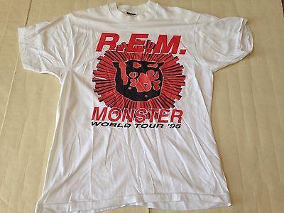 True Vintage REM Monster World Tour 1995 Concert T Shirt XL RARE DESIGN