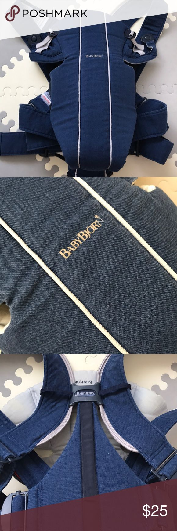 Baby Bjorn Original Carrier Bought from other posher couple months ago as good used condition. There are stains (see pictures 4,5,6) which the original owner didn't mention and I didn't notice until recently. I'm selling because my daughter didn't like it. The color is navy blue. Baby Bjorn Other