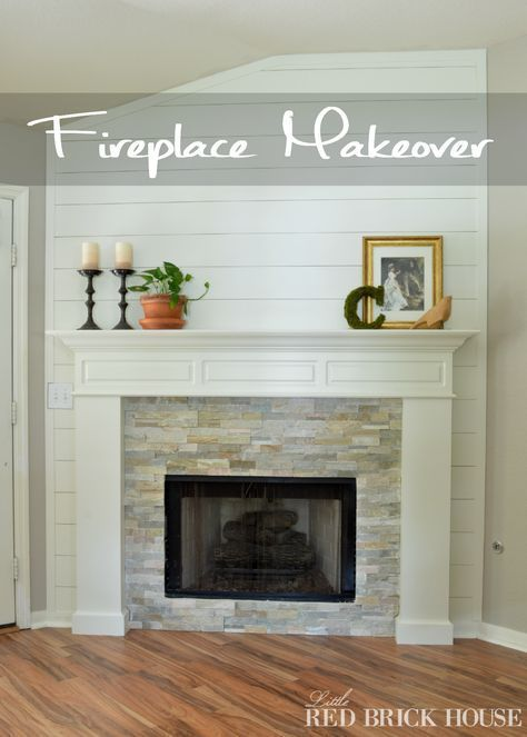 Fireplace Makeover. Paint sherwin williams alabaster.