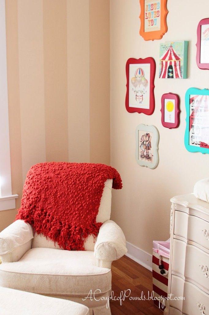 Circus-Themed Nursery Wall Art - #nursery #walldecor #oopsydaisydreamnursery