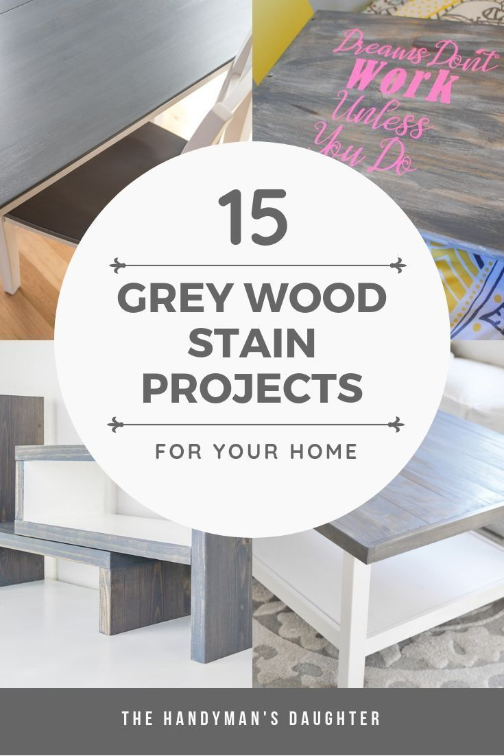 DIY Woodworking Ideas It's hard to figure out what your grey wood stain projects will look like from t...