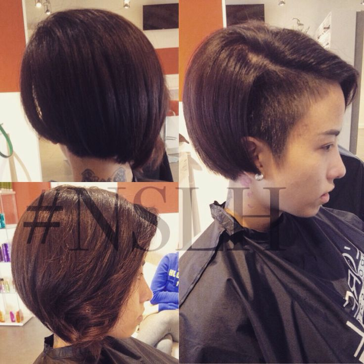 Sidecut undercut on thick Asian hair by #NSLH
