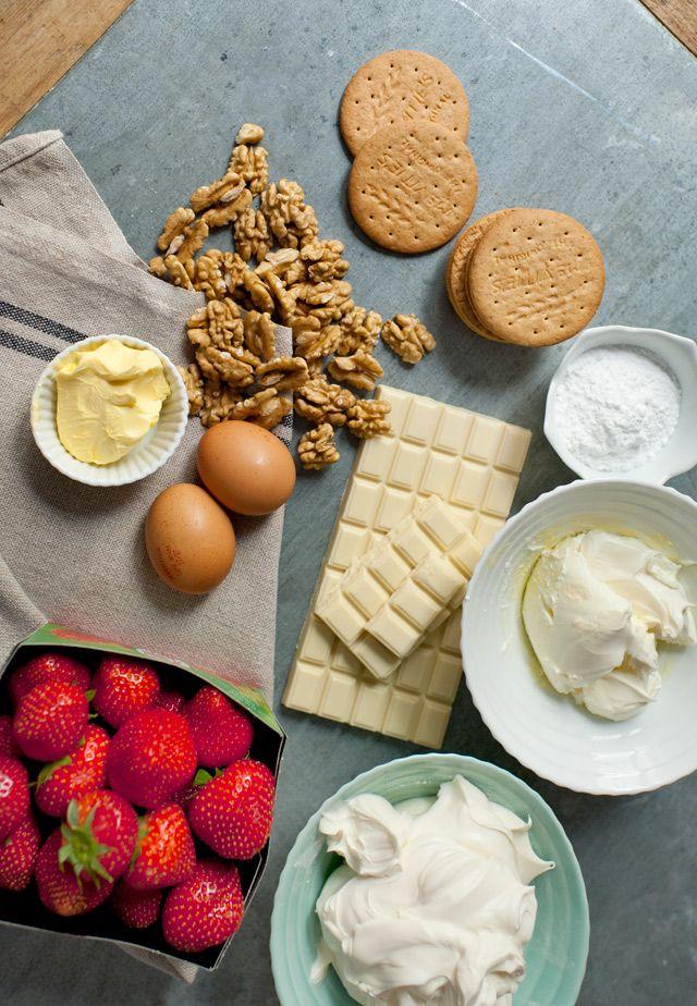 Love is in the food » Tarta de queso con fresas y chocolate blanco