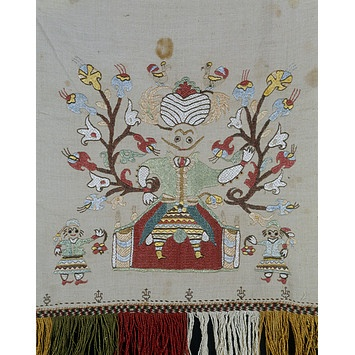 Bed cover        Date: 1700-1800 (made)      Place: Skyros, Greece