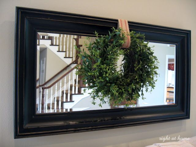 Rustic Living Room Decor Mirror Wreath For Over The Couch