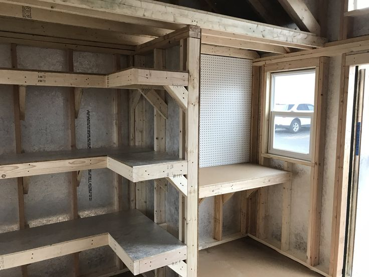 Shelving, pegboards, a workbench, and a loft. This storage shed is ready for just about anything!