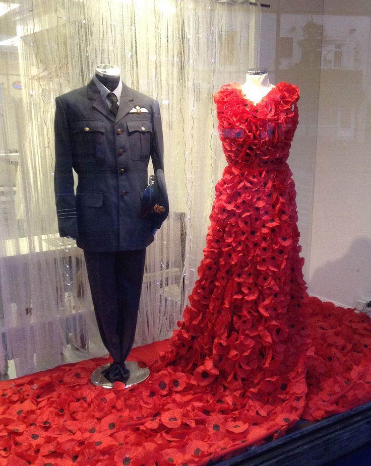 Special Days Bridal House poppy dress for Rememberance Day