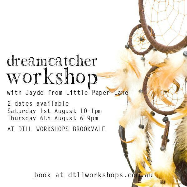 How do you fancy joining Jayde of @littlepaperlane, DTLL owner Tessa (@downthatlittlelane) Sonia from @lifelovehiccups  and Kate from @uberkatejewels for the opening of @dtllworkshops.. They have a retail shop and are running a dreamcatcher workshop next